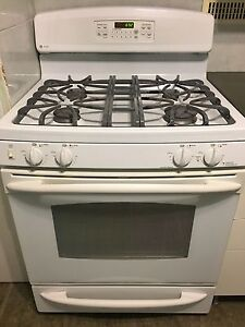 GE Profile White Gas Range