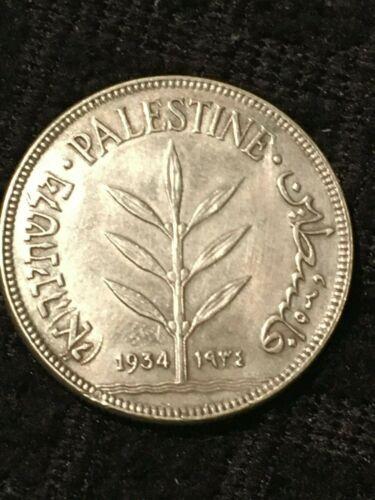 1934 100 Mils Palestine Rare  -AU50/53-  MB56