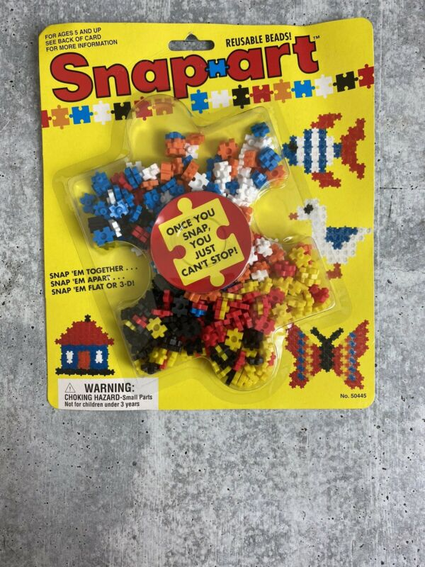 Snap-Art Beads Reusable Multi-Color from Craft House New Vintage 1992 Kit #50445