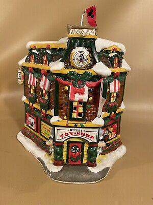Vintage Mickey Mouse Toy Shop Ceramic Christmas Village