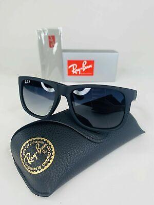 New Rayban RB4165 622/T3 Matte Black Justin Wayfarer Sunglasses Polarized (Wayfarer Matte)