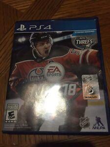 NHL 18 25$ OBO