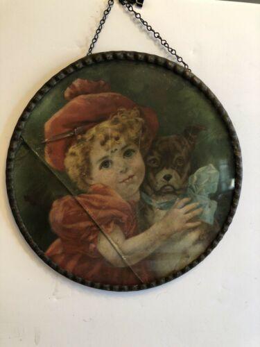 Antique Victorian *My Friend Barney* Flue Cover