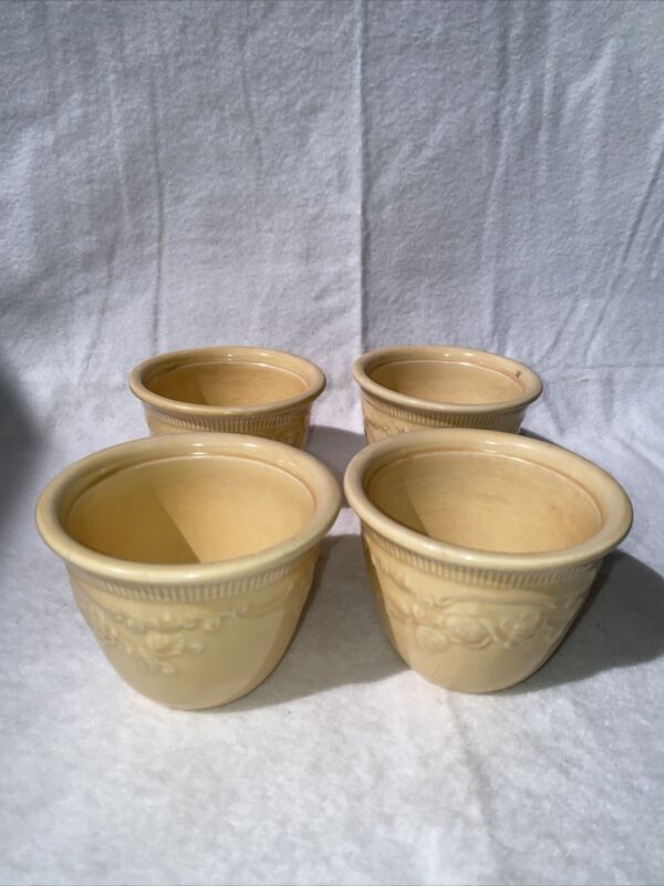 Vintage Lot of 4 Oven Serve Custard Cups Made In USA