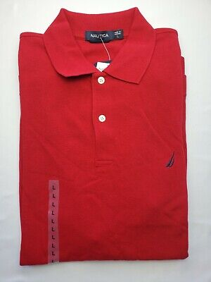 Nautica Ruby Red Short-Sleeved Polo Shirt. Size L NWT