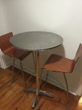 Two Stools with High Top Table set Cremorne Point North Sydney Area Preview