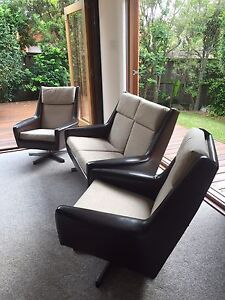 Sofa, two seater and swivel chairs North Balgowlah Manly Area Preview