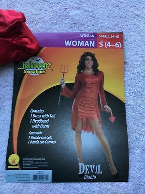 Devil Diablo Halloween Sensations Woman S(4-6) Costume New with Tags - Diablo Halloween