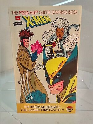 Pizza Hut Super Savings Book Featuring The X Men  1993  7 0 Fn Vf   No Coupons
