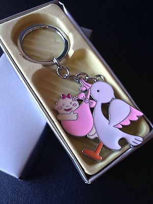 12PC Baby Shower Girl Party Favors Keychains Its A Girl Pink Recuerdos De Nina