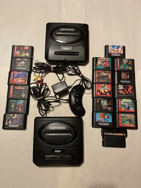 Sega Genesis Model 2 Lot, 18 Games, Reasonable Price. Diamond Hands