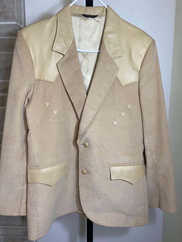 pioneer wear leather accent blazer size 40