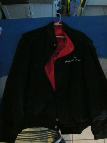 Mohegan Sun Casino Reversible Satin Jacket Black Red Logo Legendary Gaming New