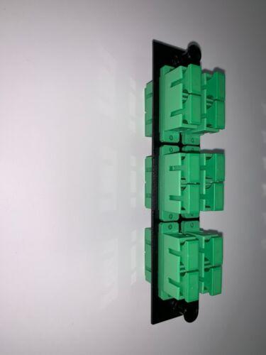 Fiber Optic SC/APC Singlemode 12 Port Adapter Panel Plate Fiber Enclosures, LGX