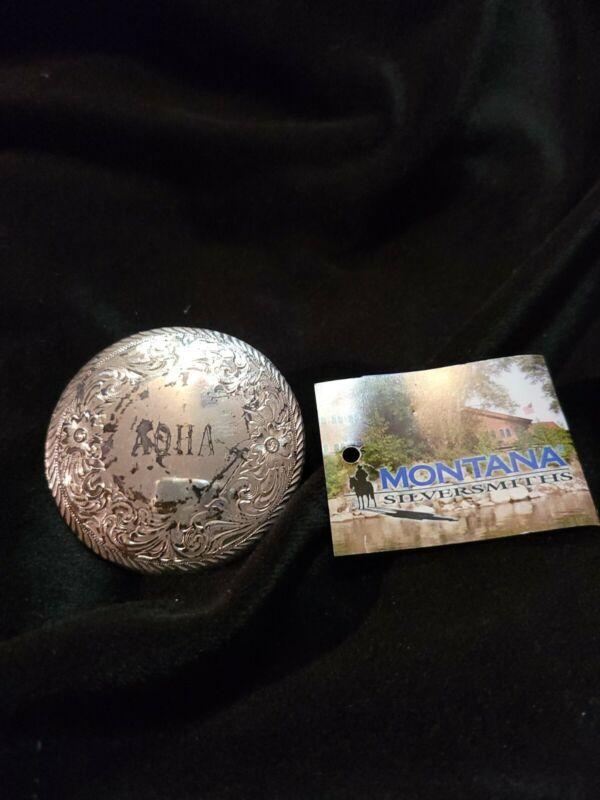 Aqha Horncap 2 1/2 in dia  NEW. Montana Silver.