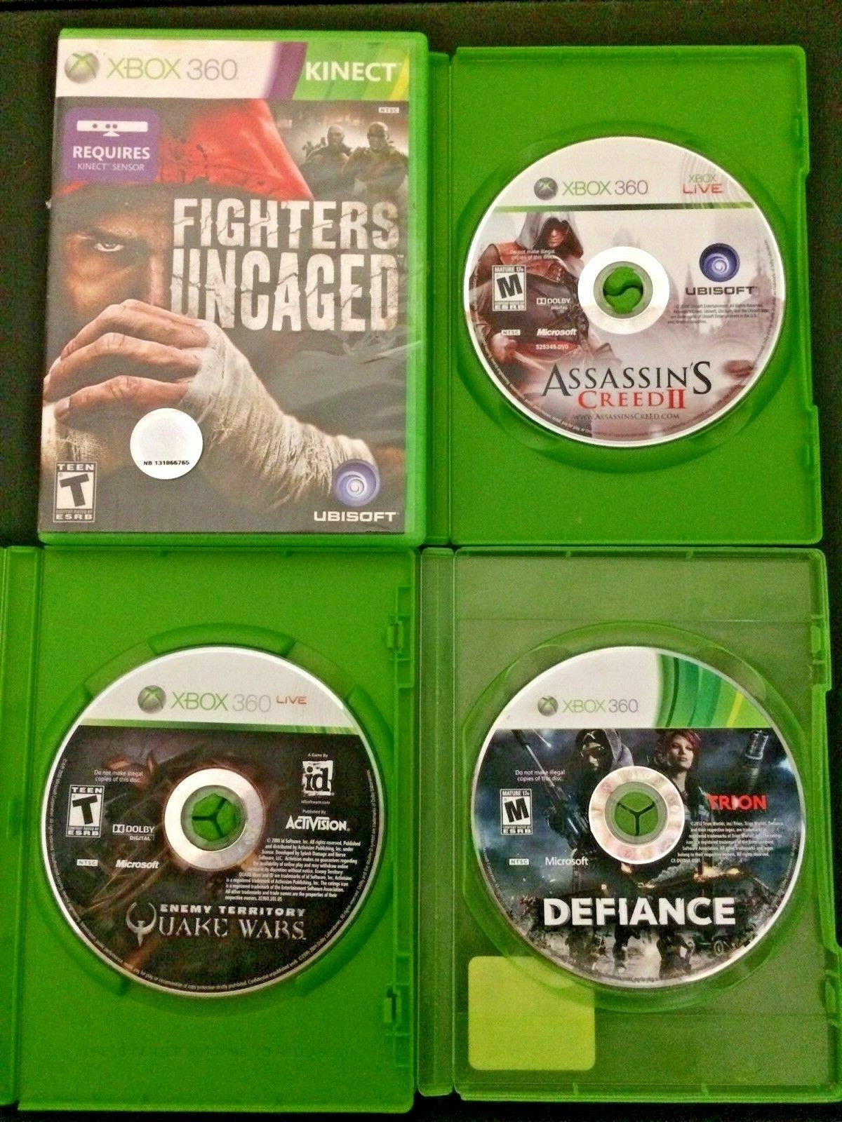 Microsoft Xbox 360 Action Adventure Video Game Bundle - Lot Of 4 - $2.99