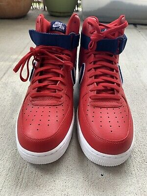Nike Air Force 1 High '07 LV8  SZ 11 Gym Red White Blue Void