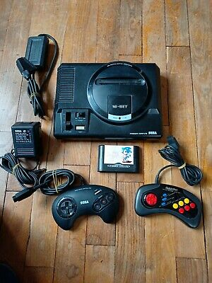 🕹️ Console Sega Megadrive 1 + Sonic The Hedgehog + 2 Manettes Et Câbles