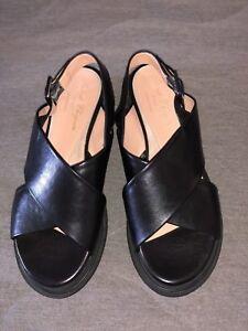 ROBERT CLERGERIE Black Platform Sandals  *EXCELLENT* Womens Size 38