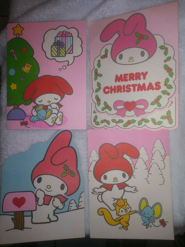 MY MELODY MERRY CHRISTMAS CARDS