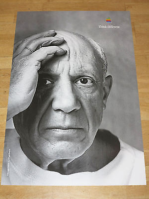 APPLE THINK DIFFERENT POSTER - PABLO PICASSO / 24 x 36 by STEVE JOBS 61 x 91 CM