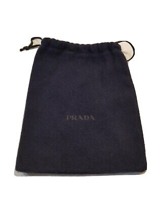 "Prada Protective Dust Bag Dustbag Cover Blue Soft Flannel 7"" x 6"""