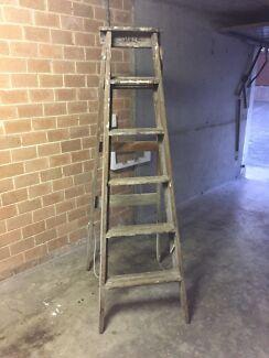Vintage Timber Ladder Meadowbank Ryde Area Preview