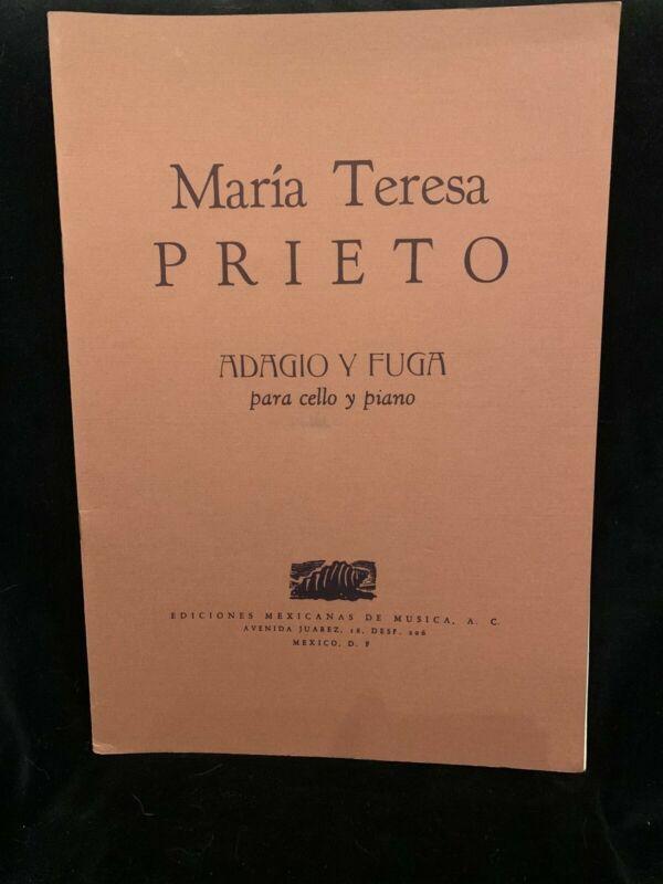 MARIA TERESA PRIETO - Adagio Y Fuga - CELLO & PIANO PARTS - NEW