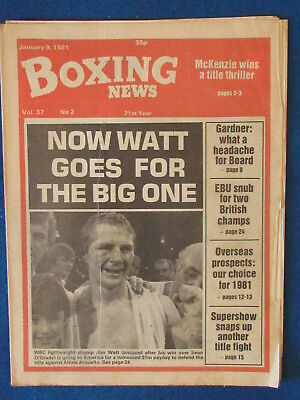 Boxing News Magazine   9 1 81   Jim Watt Cover