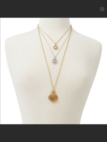 Lucky brand 3 Layered Necklace Two-Tone. Removable Chains.