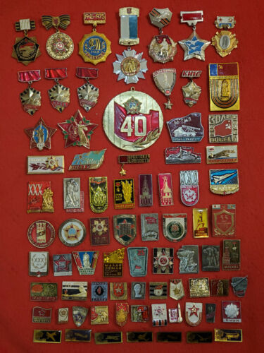 Set 76 Soviet USSR Badge Pin WW2 Great Patriotic War