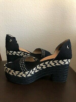 Castaner Women's Black Platform / Sandals / Espadrilles EUR 39 US 8.5