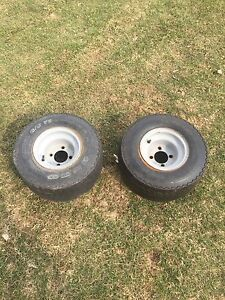 Wide trailer tires