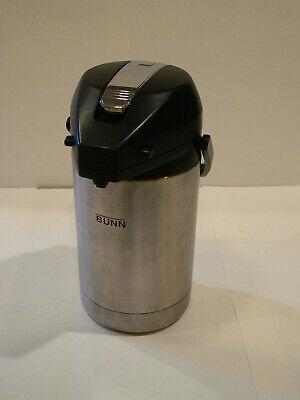 Bunn 32125 Lever Action Coffee Pot Airpot 100 Oz 2.5l Capacity Very Good Cond