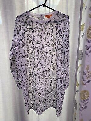 Joe Fresh White Dress. Long Sleeve Sheer Fabric. Medium