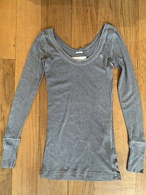 Abercrombie And Fitch, Grey Top, Size Small