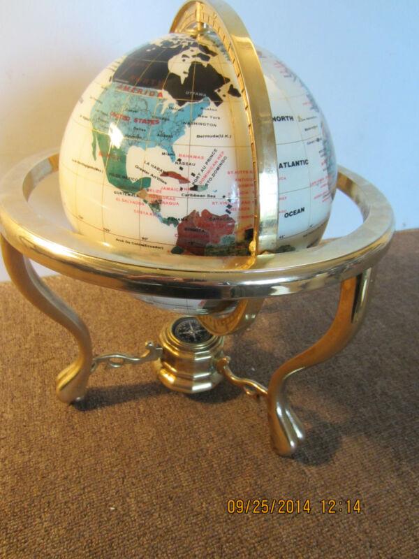 NAUTICA, WORLD GLOBE, IN GIMBEL WITH COMPASS