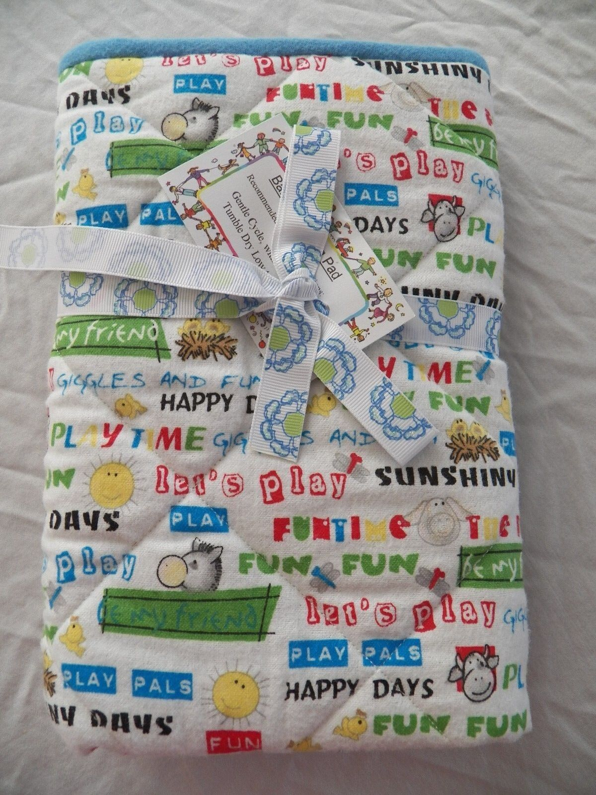 BABY CHANGING PAD Portable Diaper Travel Mat Cotton Washable Padded Handmade NEW 28