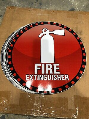 Self Adhesive Vinyl Fire Extinguisher Sign - 18 Circle
