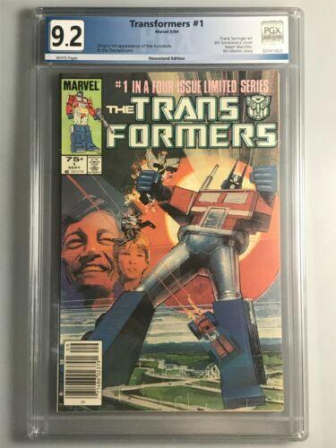 Transformers 1 - PGX - 9.2 - 1st Appearance Autobots & Decepticons - Newsstand