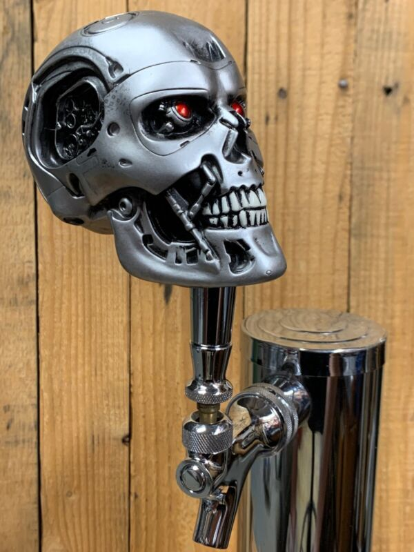 The Terminator Movie Tap Handle For Beer Keg Sci Fi Robot Skull Cyborg