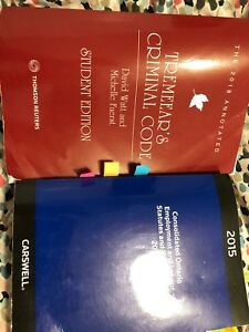 Paralegal books (Criminal Code and employment Law)