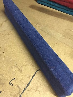 (2) Royal Blue - 6' Boat Trailer Bunk Boards 2x4 - w/ Carpet - Outdoor Marine