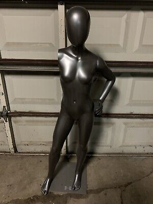 Fusion Youth Female Full Body Mannequin With Base Missing One Arm