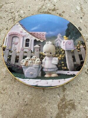 Precious Moments Plate by Sam Butcher (God Loveth a Cheerful Giver 1993)