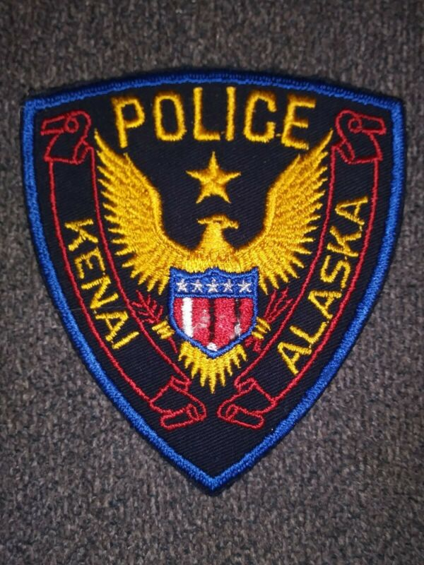 KENAI, ALASKA AK POLICE DEPARTMENT - PATCH - OLD CHEESE CLOTH