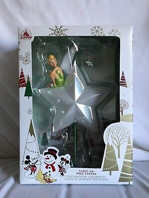 NEW Disney park Tinker Bell Light-Up Holiday Christmas Tree Topper ornament 2019