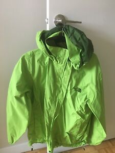North face bright green jacket