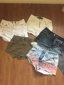 5 pairs of size small women's shorts