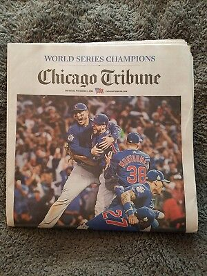 Chicago Tribune Cubs World Series News Paper  Thursday November 3  2016